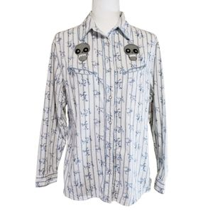 Generation West by Wrangler Flowers and Skulls Top